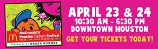Blog Give-away! Win Houston Children's Festivaltickets!