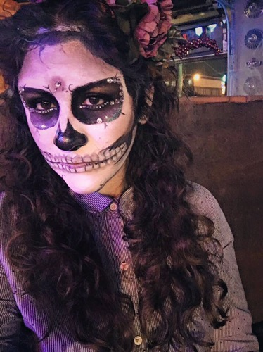 Sugar Skull look I created for Halloween 2015
